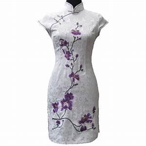 qipao chinois col mao With robe col chinois