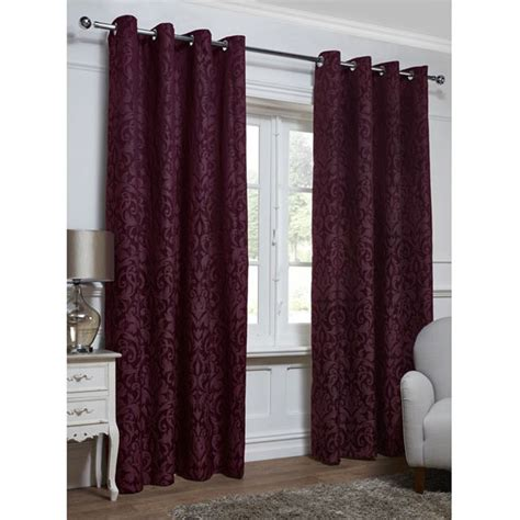 georgia textured leaf fully lined eyelet curtain