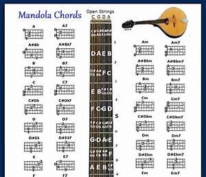 Mandola Chords Chart  U0026 Note Locator - Fretboard