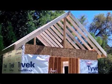 how to make a rafter for a shed how to build a shed part 4a ridge beam rafters diy