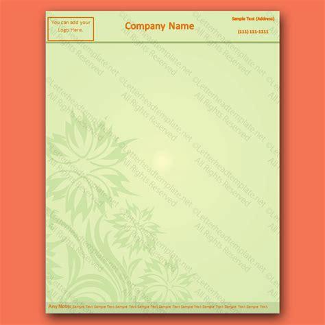flower design letterhead template