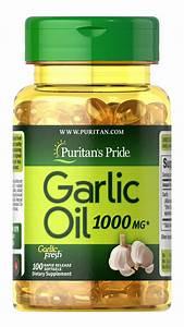 Garlic Oil 1000 Mg 100 Rapid Release Softgels