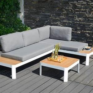 Canape De Jardin Bois : un salon de jardin lounge casa ensemble de jardin bois ~ Premium-room.com Idées de Décoration