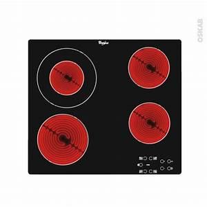 Plaque De Cuisson Whirlpool : plaque de cuisson 4 feux vitroc ramique verre noir ~ Melissatoandfro.com Idées de Décoration