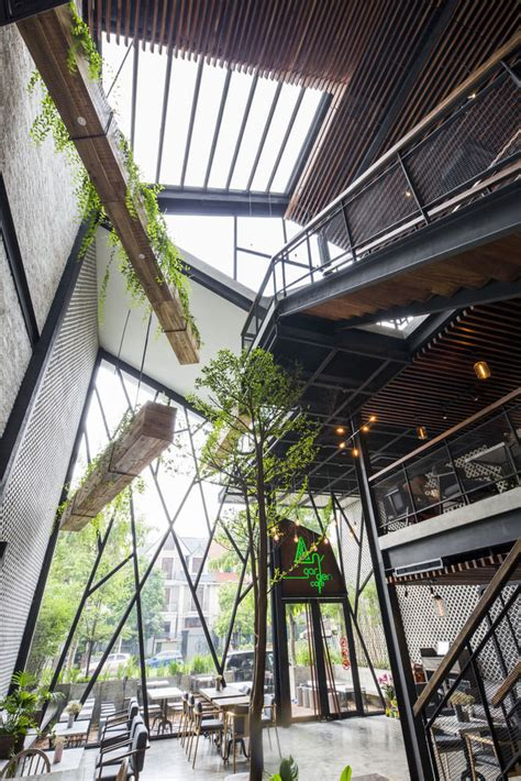 nature infused industrial cafe interiors industrial cafe