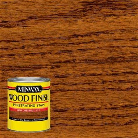 minwax  qt wood finish red chestnut oil based interior