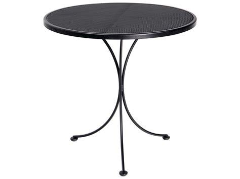 woodard micro mesh wrought iron 30 bistro table 220134