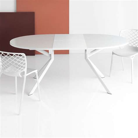 table ovale cuisine table ovale extensible en verre giove connubia 4