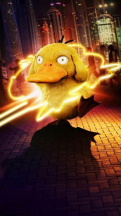 Pikachu Detective Pokemon Duck Psyduck Wallpapers Phone
