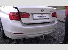 BMW F30 320I with trailer tow hitch, electrically pivoted