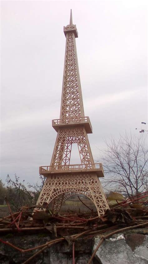 eiffel tower  laser cut template  file