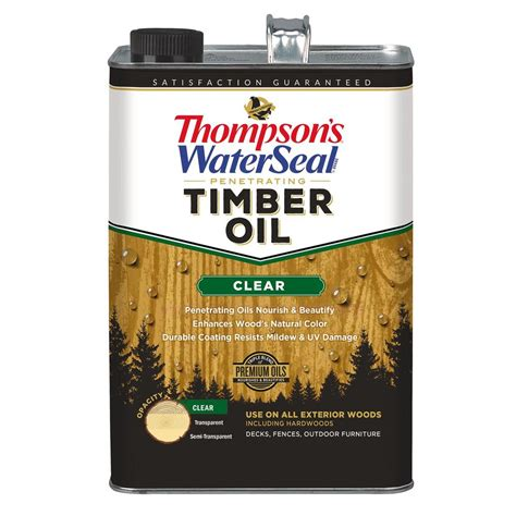 thompsons waterseal  gal clear penetrating timber oil