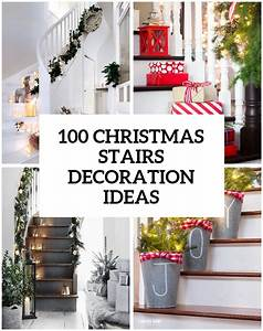 100 awesome christmas stairs decoration ideas digsdigs for Kitchen colors with white cabinets with christmas stair stickers