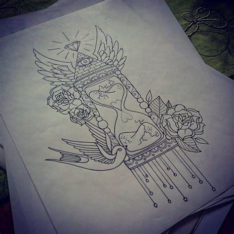 hourglass tattoo  kohlmeisen tattoos pinterest