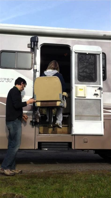 cool wheelchair lift glide n go xr standing lift for rv