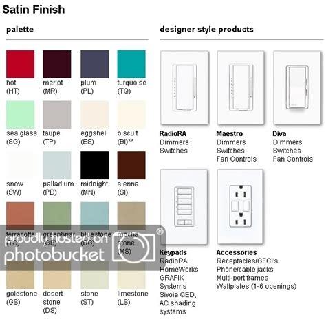 lutron colors lutron satin color chart photo by lmalm53 photobucket