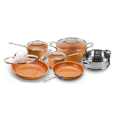 buy gotham steel nonstick  piece  copper cookware