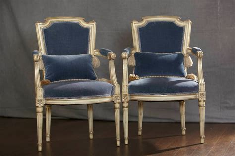 Pair Of Antique French Louis Xvi Style Fauteuils Or