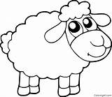 Sheep Coloring Pages Cartoon Eyes sketch template