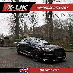 Rs3 Style Front Grill Gloss Black For Audi A3    S3  U0026quot 8v