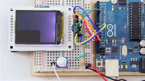 arduino 1 8 quot tft display youtube