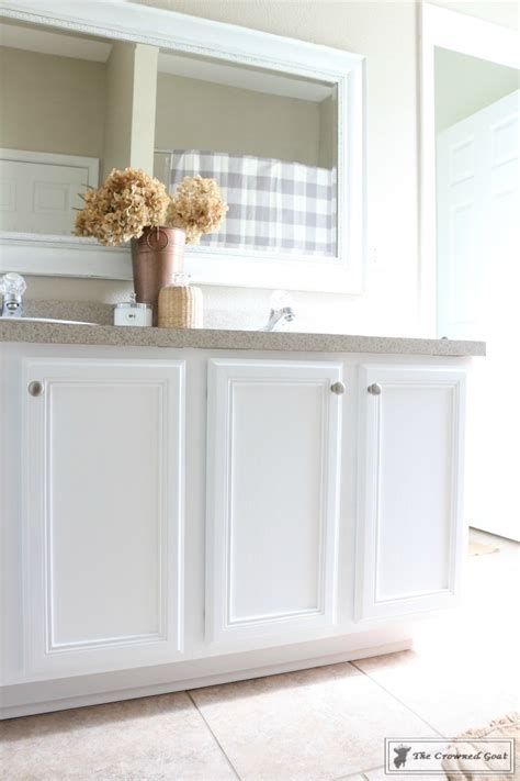 painting  bathroom cabinet  general finishes milk