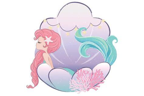 cute mermaid girlcartoon character pre designed