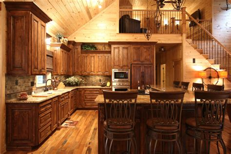 cabin style kitchen cabinets rustic cabin style traditional kitchen charlotte