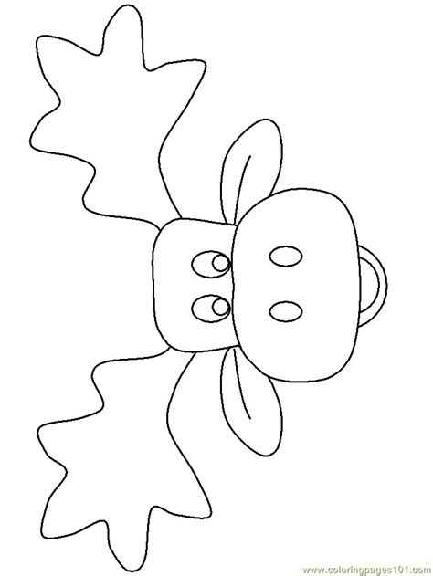 coloring pages moose face mammals moose
