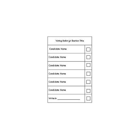 ballot template a free election ballot template