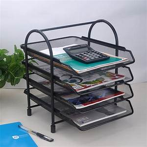 4 tier document letter paper file tray sorter collection With simplehouseware 6 trays desktop document letter tray organizer black
