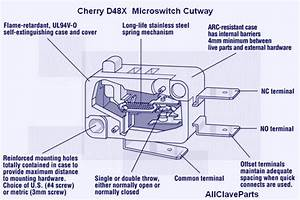 2340mk Micro-switch  Cherry D48x  Grey   Tus057-1833