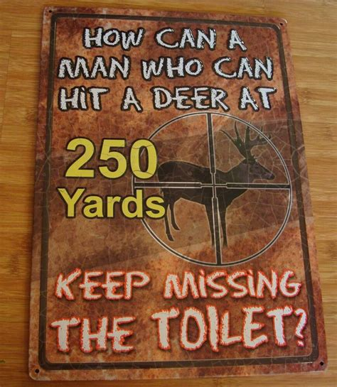 funny deer hunter hunting cabin lodge bathroom home decor