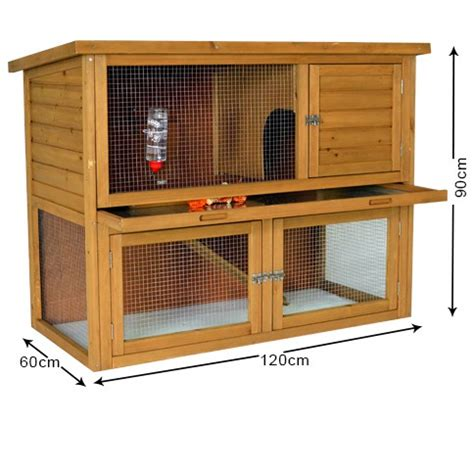 cottage rabbit hutch the cottage 4ft rabbit hutch hutches with runs outdoor