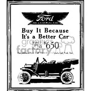 royalty   ford vintage car ad vintage  vector