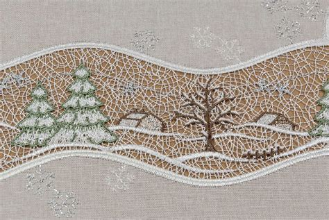 Weihnachtstischdecken Gunstig by Weihnachtsdecken Modern Aus Plauener Spitze G 252 Nstig Kaufen