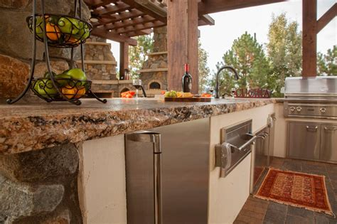 outdoor kitchen granite countertops photo page hgtv