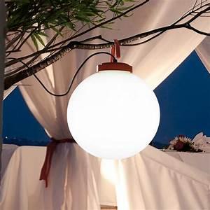 Lampe D Extérieur : lampe baladeuse d 39 ext rieur nuk blanc orange h41 6cm faro luminaires nedgis ~ Teatrodelosmanantiales.com Idées de Décoration