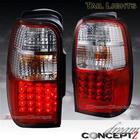 red table runner with 5 led lights 96 00 toyota 4runner led lights ls 2wd sr5 4wd limited clear lens ebay