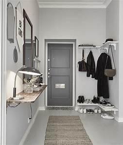 Einrichtungsideen Für Kleine Räume : eingang gestalten in wei und grau kluge einrichtungsideen f r kleine r ume freshouse ~ Sanjose-hotels-ca.com Haus und Dekorationen