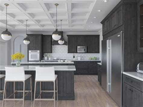 natural grey shaker ready  assemble kitchen cabinets