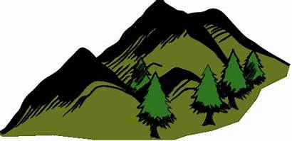 Mountain Clipart Background Tree Mountains Clip Transparent