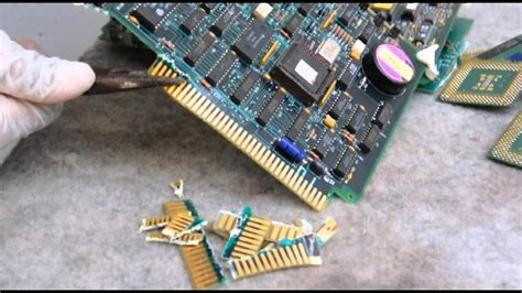Gold Recovery Cpu Circuit Board Techniques Chemicals