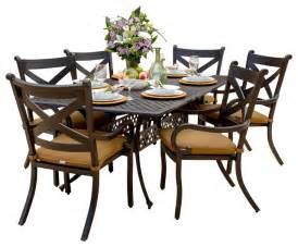 6 person outdoor patio set avondale 6 person cast aluminum patio dining set