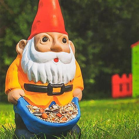 nibble my bits bird feeder garden gnome