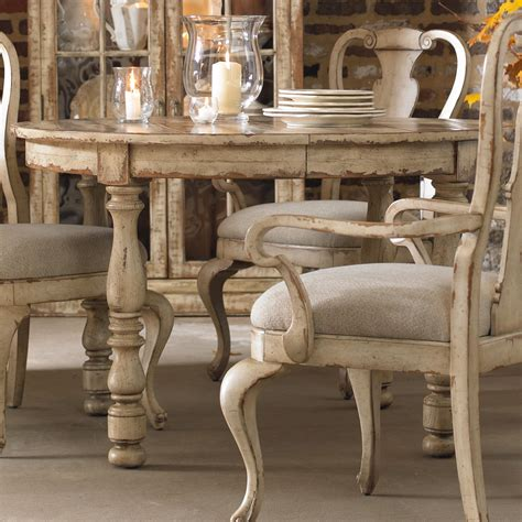 two leaf dining table hooker furniture wakefield round leg dining table with