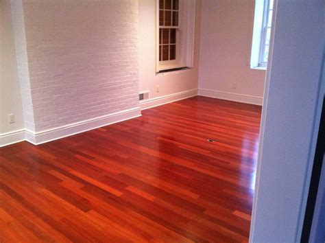 Exotic Red Wood Floor Installation Menomonee Falls WI   My