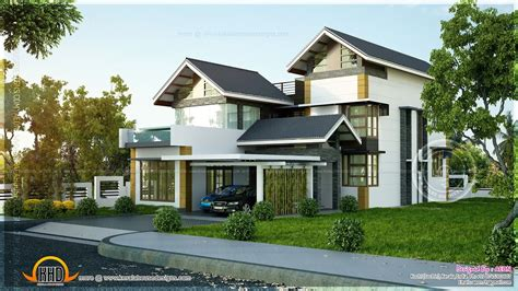 kerala sloping roof villas google search house plans australia traditional house plans