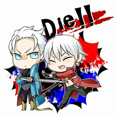 Devil Cry Dante Vergil Chibi Anime Virgil