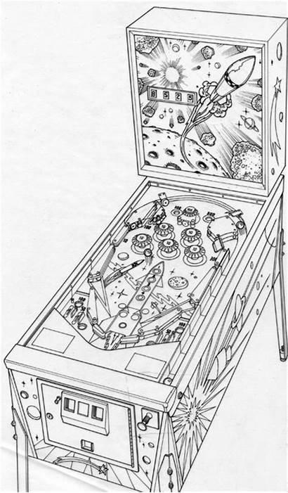 Pinball Machine Drawing Layout Pen Behance Artwork